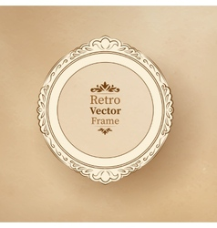 round vintage baroque frame vector image