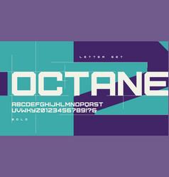 sans serif bold urban geometric letter set vector image