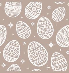 seamless pattern of white easter egg flat vector image