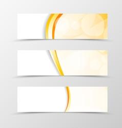 Set of header banner light smooth design vector image