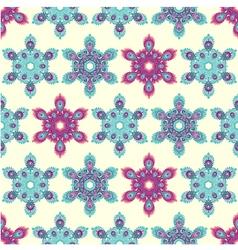 Snowflake mandala seamless pattern vector