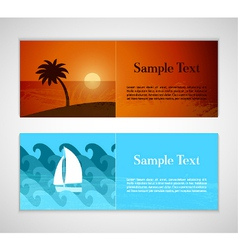 Summer horizontal banners vector image