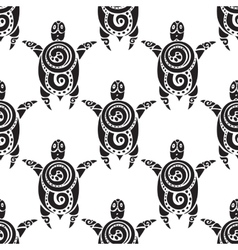 Turtles Seamless pattern vector image