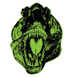 Tyrannosaur portrait grunge vector