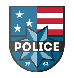 Usa police department badge icon vector