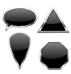 Web icons - triangle location pin dialog bubble vector