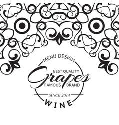 Wine list design layout vector