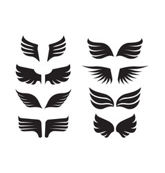 wings collection aircraft military symbols birds vector image