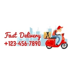 Delivery service banner with call number vector image