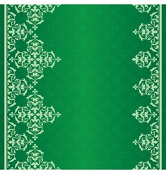 green background with vintage ornament vector image vector image