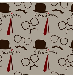 hipster pattern vector image vector image