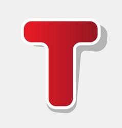 letter t sign design template element new vector image