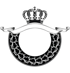 One Color Circle Royal Crown Composition vector image vector image
