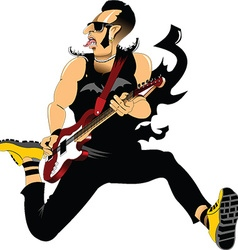 rocker cartoon vector image