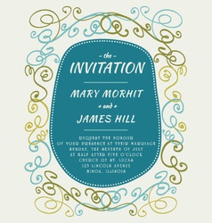 Scribble Invitation vector image vector image