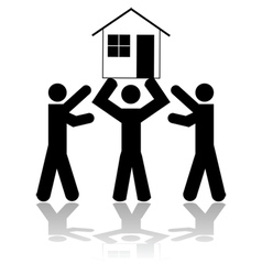 Winning a house vector image vector image