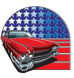 american style badge vector image vector image