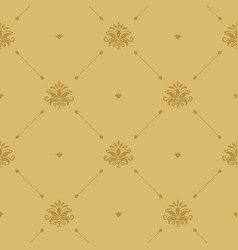 aristocratic baroque wallpaper seamless vector image vector image