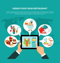 online ordering food concept vector image