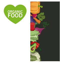 organic food card vegetables harvest image vector image