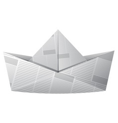 paper boat made of newspaper vector image