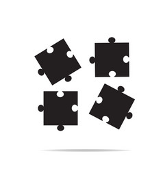 puzzles piece icon on white background puzzles vector image vector image