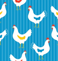 Seamless pattern with hens vector image vector image