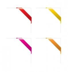 set of empty corner ribbons vector image