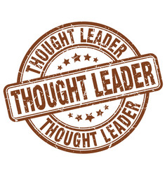 thought leader brown grunge stamp vector image