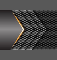 abstract gold gray metal circle mesh arrow modern vector image