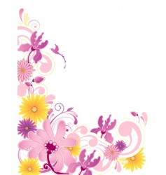 floral background with ornament vector image