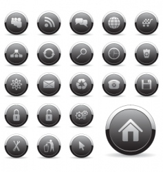 icons set for web design vector image vector image
