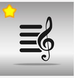 playlist black icon button logo symbol vector image