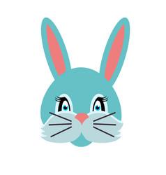 rabbit animal carnival grey small bunny hare vector image vector image