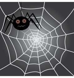 spider in a cobweb vector image
