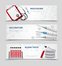 vaccination medical banners set vector image