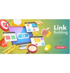 3d conceptual link building vector