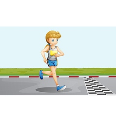 A female racer vector image