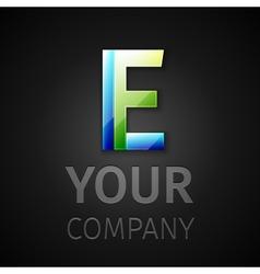 Abstract logo letter E vector