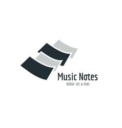 Abstract music piano keys logo icon Melody vector image