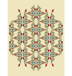 Antique ottoman turkish pattern design twelve vector