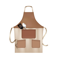 Apron realistic object vector