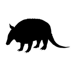 armadillo silhouette black white icon vector image