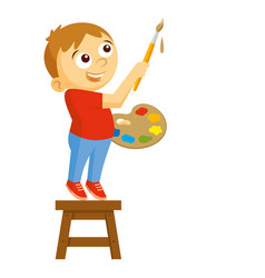 artist boy vector image