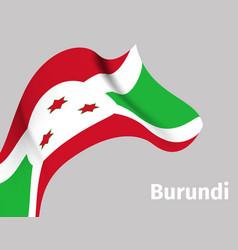 background with burundi wavy flag vector image