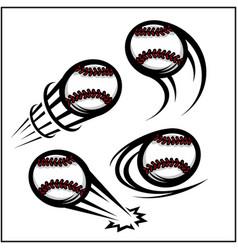 Baseball swoosh set 4 vector