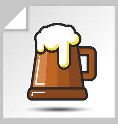 beer icons 6 vector image