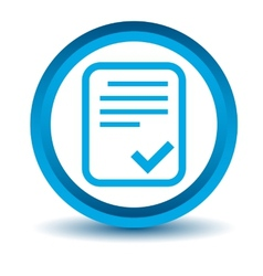 Blue document icon vector