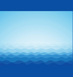 blue ocean background vector image