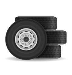 bus or truck wheel stock vector image